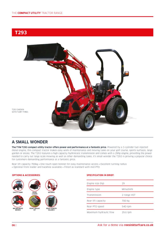 TYM Tractor Brochure