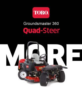 Toro Groundsmaster 360 quad-steer zero-turn mower