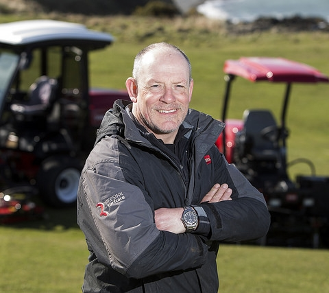 Nefyn Golf Club Groundsman with Toro machinery