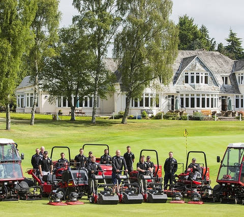 Toro fleet at Blairgowrie Golf Club