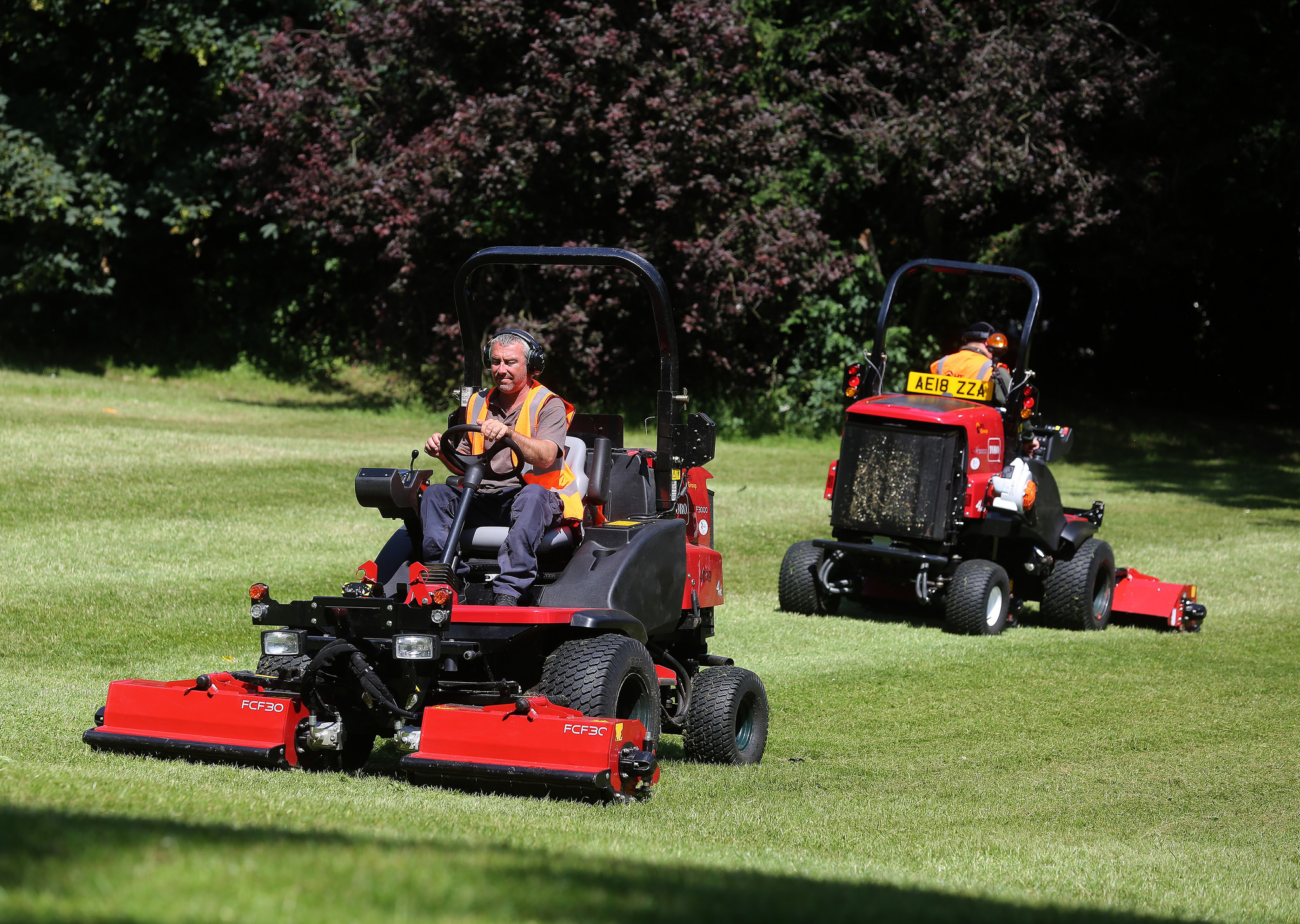 Toro's LT-F3000 triple flail mower stood out from the crowd at